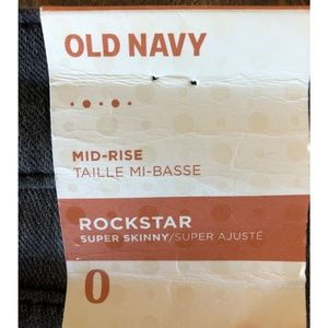 Old Navy Jeans - *2/$15*  Mid-Rise Gray-Wash Rockstar Super Skinny